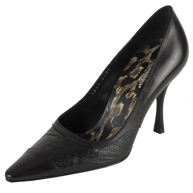 Dolce & Gabbana Black Leather Pointed Toe Pumps