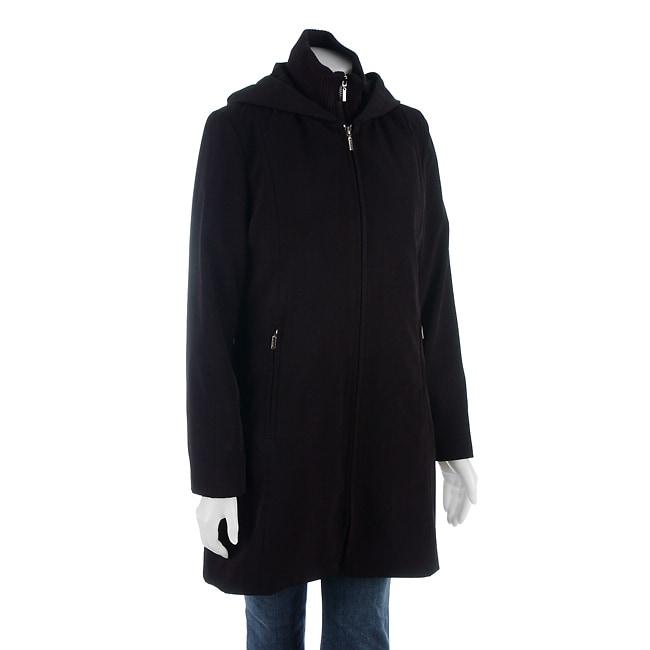 Anne Klein Womens Hooded Coat