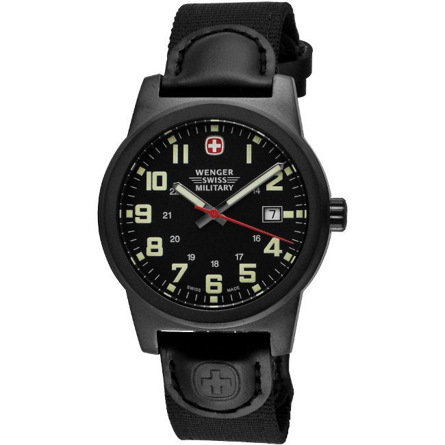Wenger Men's Classic Black Dial Field Watch