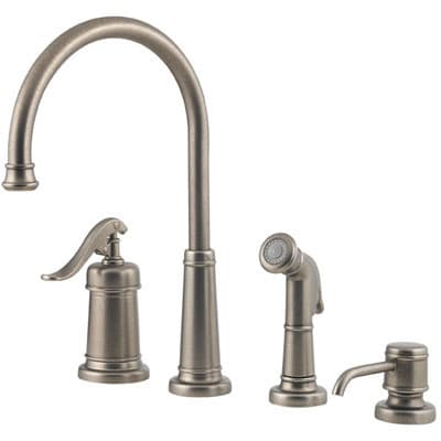 Price Pfister Ashfield Rustic Pewter Kitchen Faucet