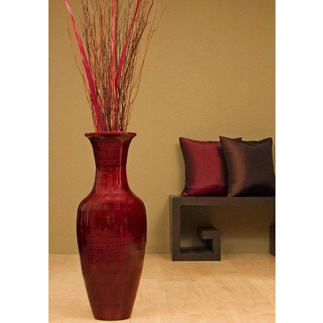 28 Inch Bamboo Floor Vase Amp Floral Arrangement 10797343