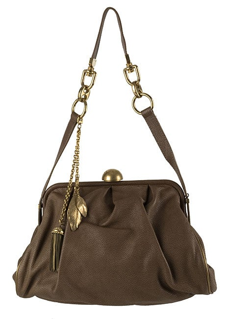Dolce & Gabbana Light Brown Leather Frame Handbag