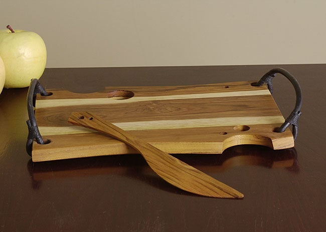 Teak Wood Cheese Board and Knife Set (Colombia)