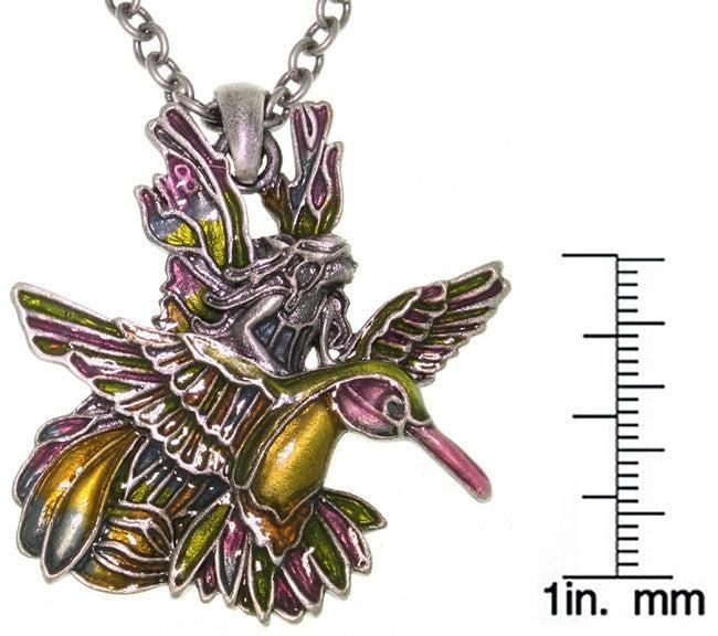 CGC Hummingbird and Fairy Pewter Pendant