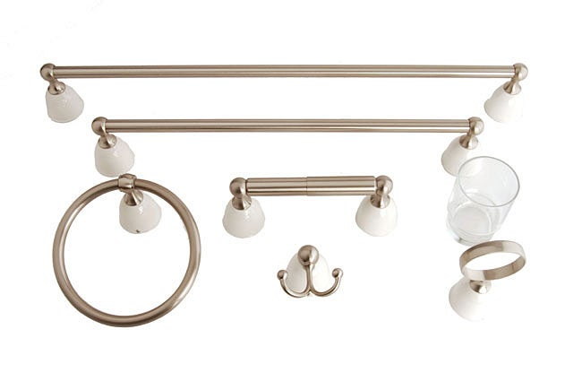 Moen Ambria 6 Piece Bath Accessory Set Nickel Finish 10800707 Shopping Big