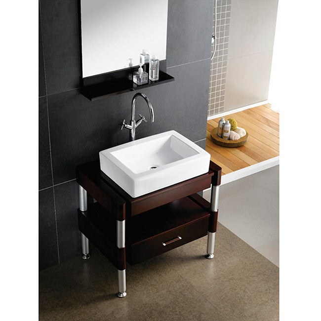 pacifica white china vessel lavatory overstock shopping great deals on bathroom sinks