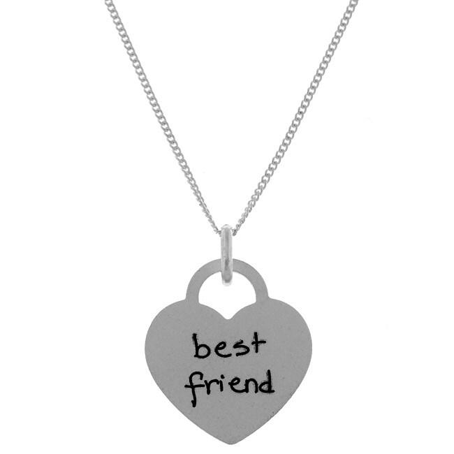 Sterling Silver Tween Best Friend Necklace