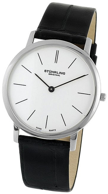 Stuhrling Original Ascot Men's White Dial Strap Watch