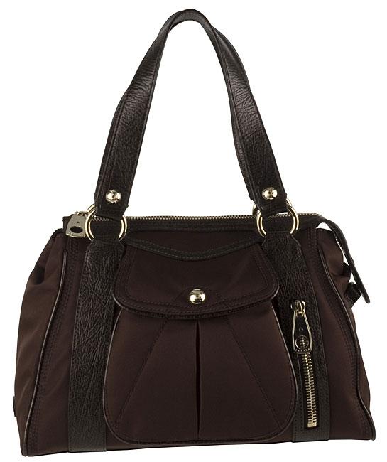 Celine Nylon Shoulder Bag with Leather Trim - 10809093 - Overstock ...