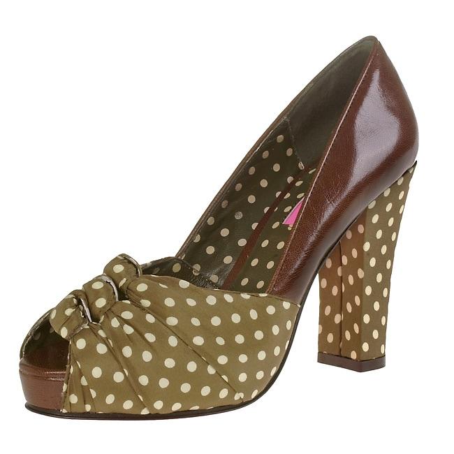 Betsey Johnson Lefty Peep Toe Heels
