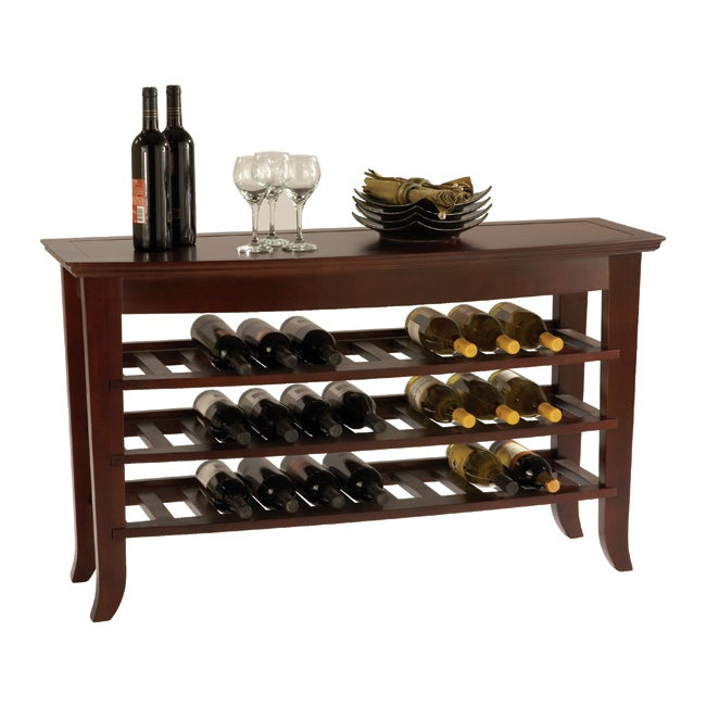Milano Venezia Wine Rack Console Overstock Shopping Great Deals On Coffee Sofa End Tables
