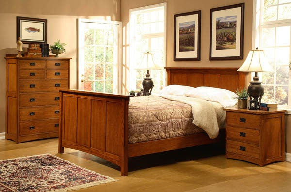 american craftsman design king panel bedroom set 10814329