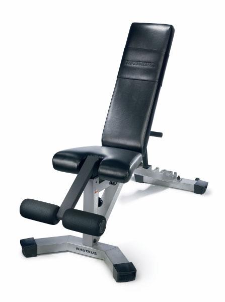Nautilus Nt 1020 Adjustable Fitness Bench 10815493 Overstock Com