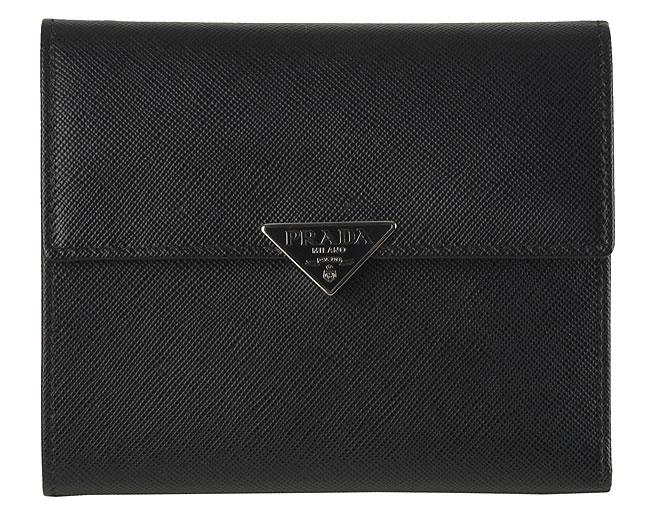 prada tri fold wallet