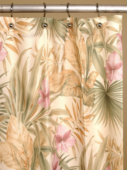 Paradise Palms Shower Curtain By Croscill