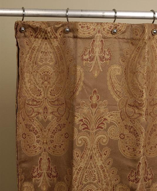 Royal paisley jacquard shower curtain by croscill 10816247