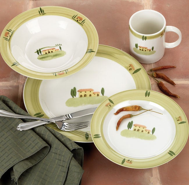 Farberware Spanish Hill 40-piece Dinnerware Set