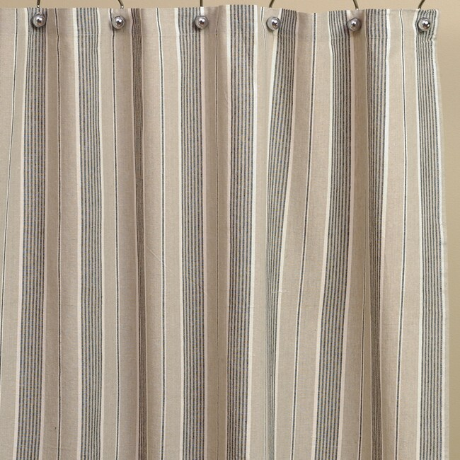 Tan Stripe Cotton Shower Curtain 10822440 Shopping Great