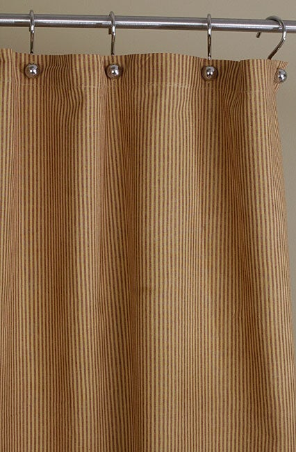 red and yellow stripe cotton shower curtain 10822450 shopping great deals on. Black Bedroom Furniture Sets. Home Design Ideas