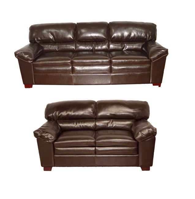 Bailey Brown Leather Sofa And Loveseat 10825802 Shopping Great Deals On