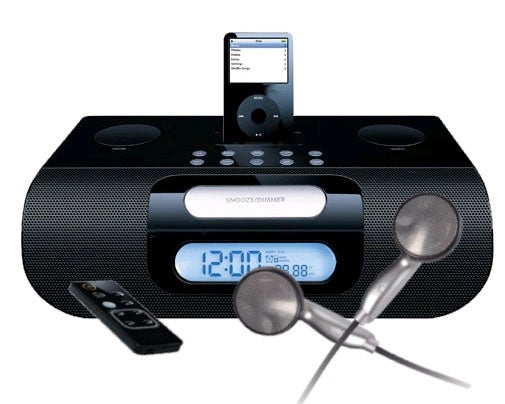 Dual alarm Stereo Digital Clock Radio w/ iPod Dock