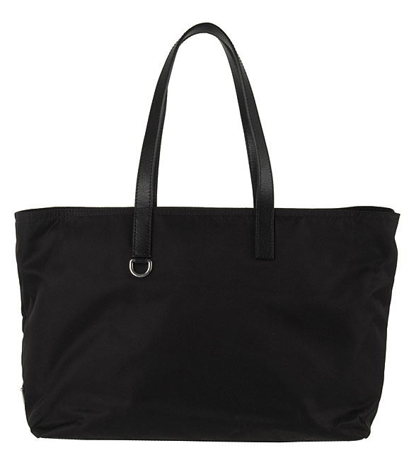Prada Nylon Tote Bag with Leather Trim