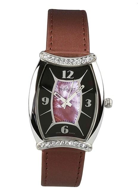 August Steiner Women's 'Tango' Burgundy Watch
