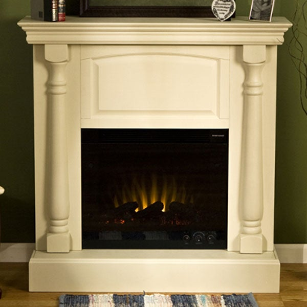 Grenoble Antique White Electric Fireplace 10852271 Shopping Great Deals On