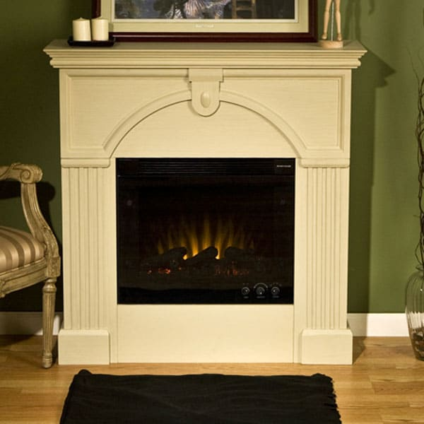 Luxemburg Antique White Electric Fireplace 10852570 Shopping Great Deals On