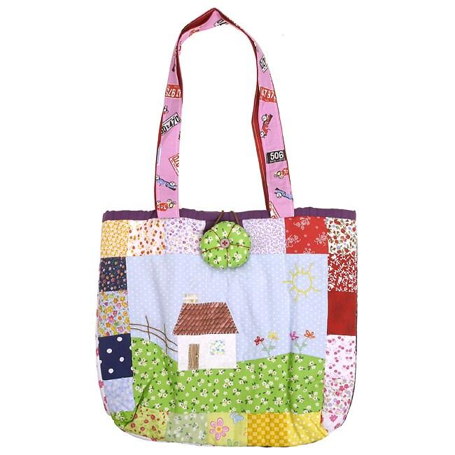 Patchwork 'Little House in the Prairie' Handbag (Brazil)