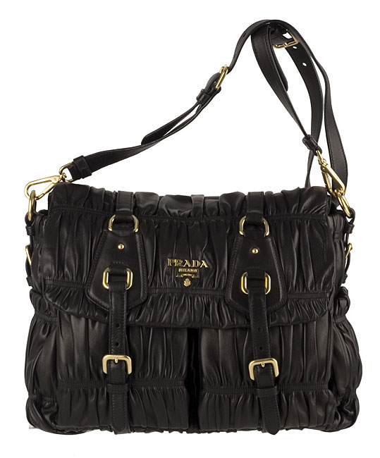 prada multicolor purse - Prada Black Leather Quilted Messenger Bag - 10855129 - Overstock ...