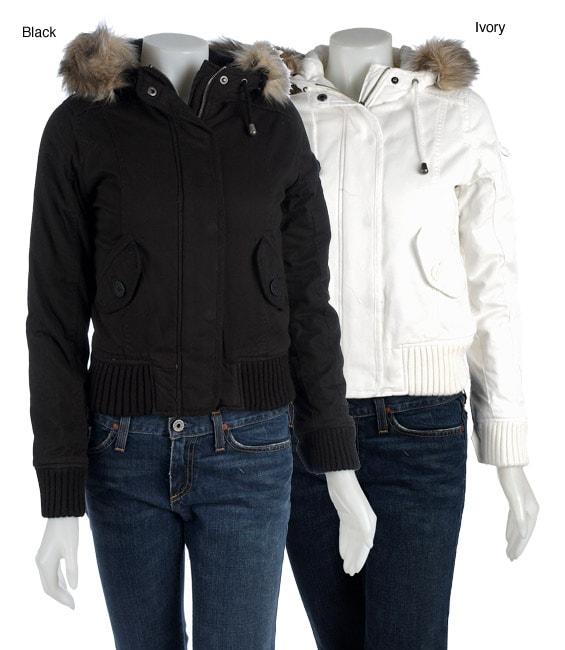 Zenana Bomber Jacket with Fur Trim Hood