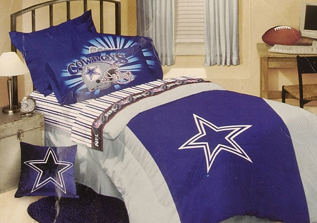 Cowboys Comforter: Dallas Cowboys Comforter And Sheet Set (Twin)