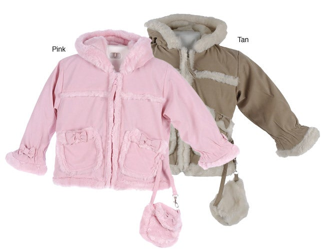 Big Chill Toddler Faux Suede Fur Lined Jacket