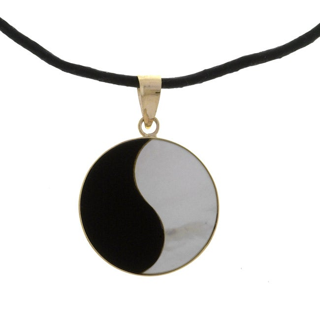 14k Yellow Gold 'Yin and Yang' Pendant Necklace