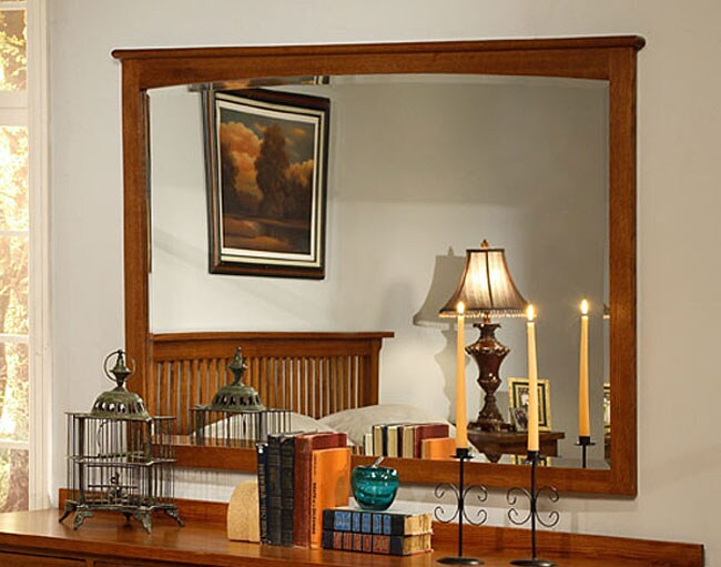 Mission Solid Oak Wall Mirror