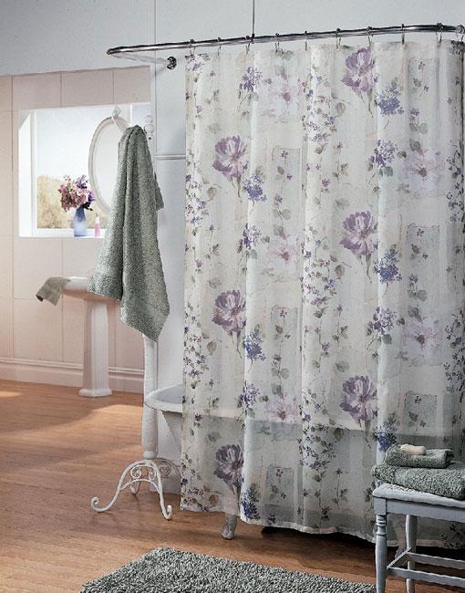 Wisteria Fabric Shower Curtain Overstock
