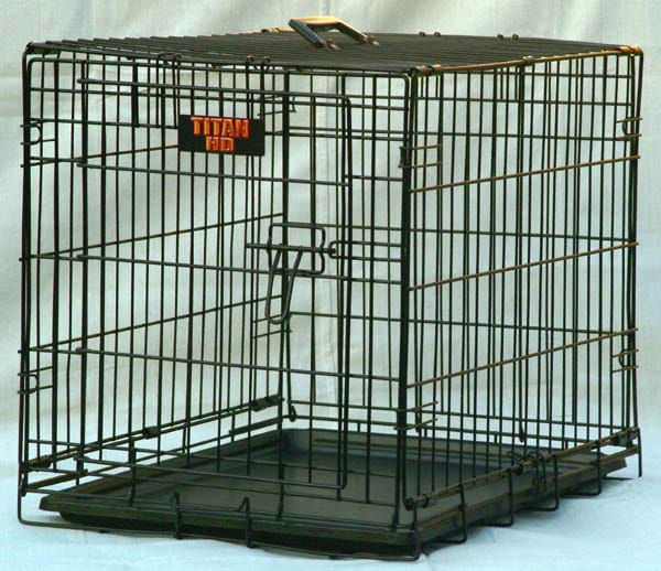 "Majestic Pet ""Titan"" Single Door 42-inch Folding Dog Crate"