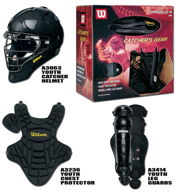 Wilson A3686 Youth (Ages 12-16) Catcher's Gear Kit