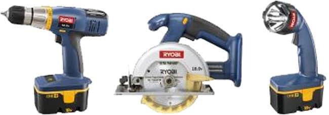 Ryobi 3-piece 18V Drill / Circular Saw / Light Combo (Refurbished) (Refurb)