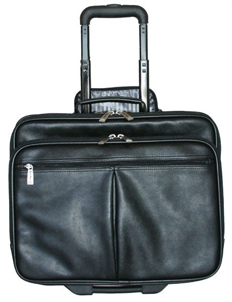 Jourdan Leather Portfolio Rolling Laptop Case