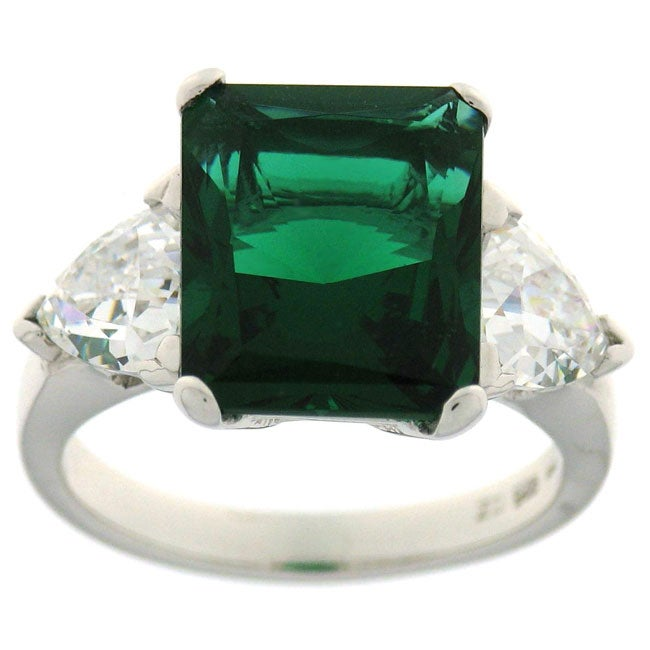 Charles Winston Simulated Emerald CZ Ring