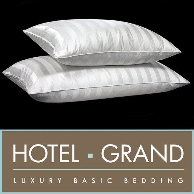 Hotel Grand Silk 1300 Thread Count Siberian White Down Pillow