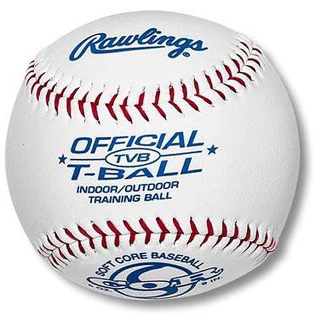 1 Dozen RawlingsTVB Soft Core T-Ball Training Baseball