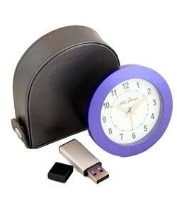 Blue Seth Thomas Alarm Clock with Memory Stick
