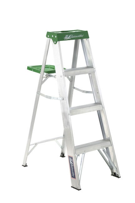 Aluminum 4 Foot 225 Pound Rating Step Ladder 11055832