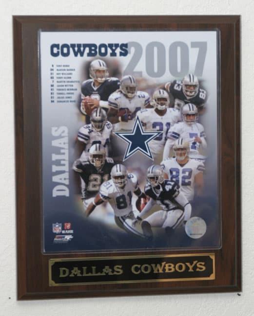2007 Dallas Cowboys Team Plaque