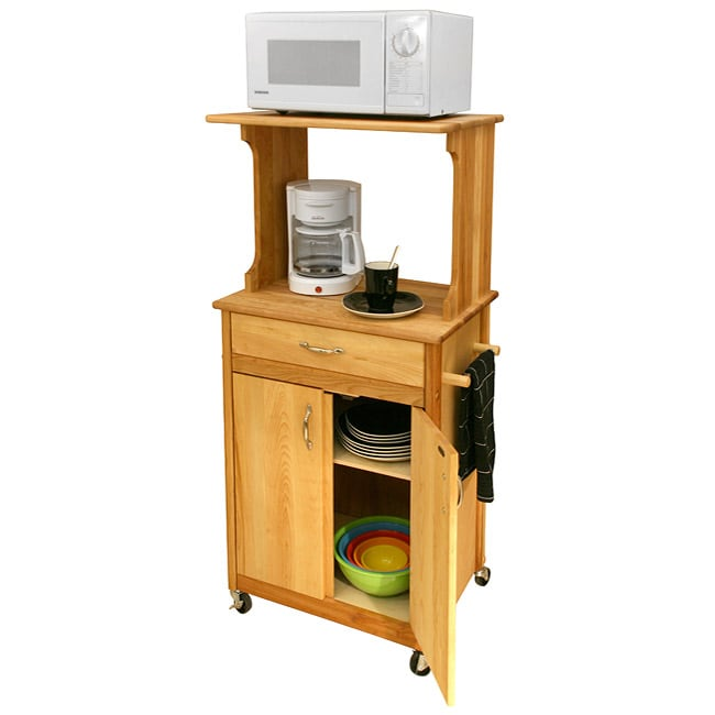 microwave space saver cart with drawer 11058267 shopping big discounts on. Black Bedroom Furniture Sets. Home Design Ideas