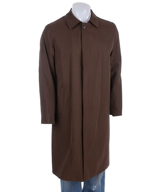 Kenneth Cole Men's Brown Raincoat with Zip-out Liner