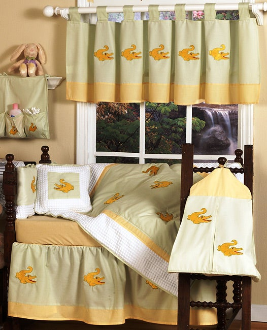 Egyptian Cotton 9-piece Crocodile Crib Set